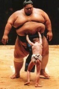 David vs Goliath sumo style